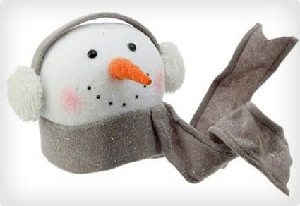 Winterberry Snowman Head Tree Topper