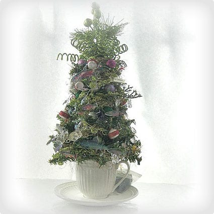 Wonderful Tabletop Christmas Tree With Fishing Charm