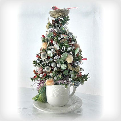 Woodland Nature Tabletop Tree in a Teacup