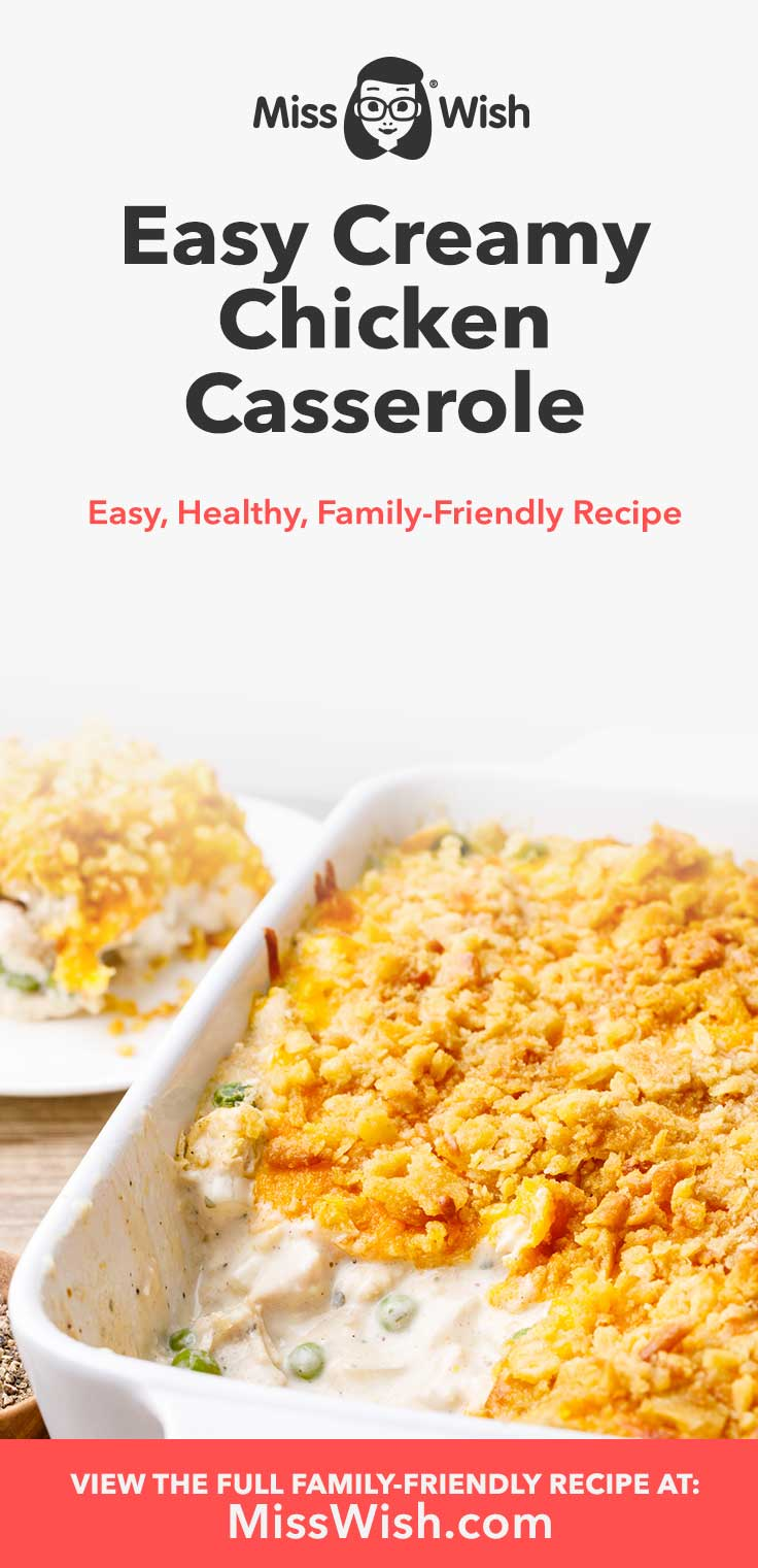 I honestly don't think I've ever had a chicken casserole that is as easy to make and comforting as this one. It's absolutely perfect for making as a family dinner and it's even better when enjoyed as leftovers. You'll definitely want to keep this recipe bookmarked for whenever you get that itch for a creamy casserole dish.