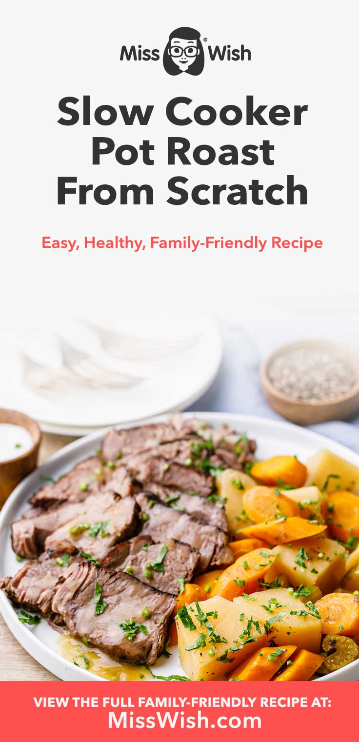 Few things in life are as satisfying as coming home from a long day of work to the smell of a delicious slow cooked pot roast. The best part of this easy recipe is that it's made with nothing but all-natural whole food ingredients -- there are no canned soups or other processed foods at all, and the kids absolutely love it.