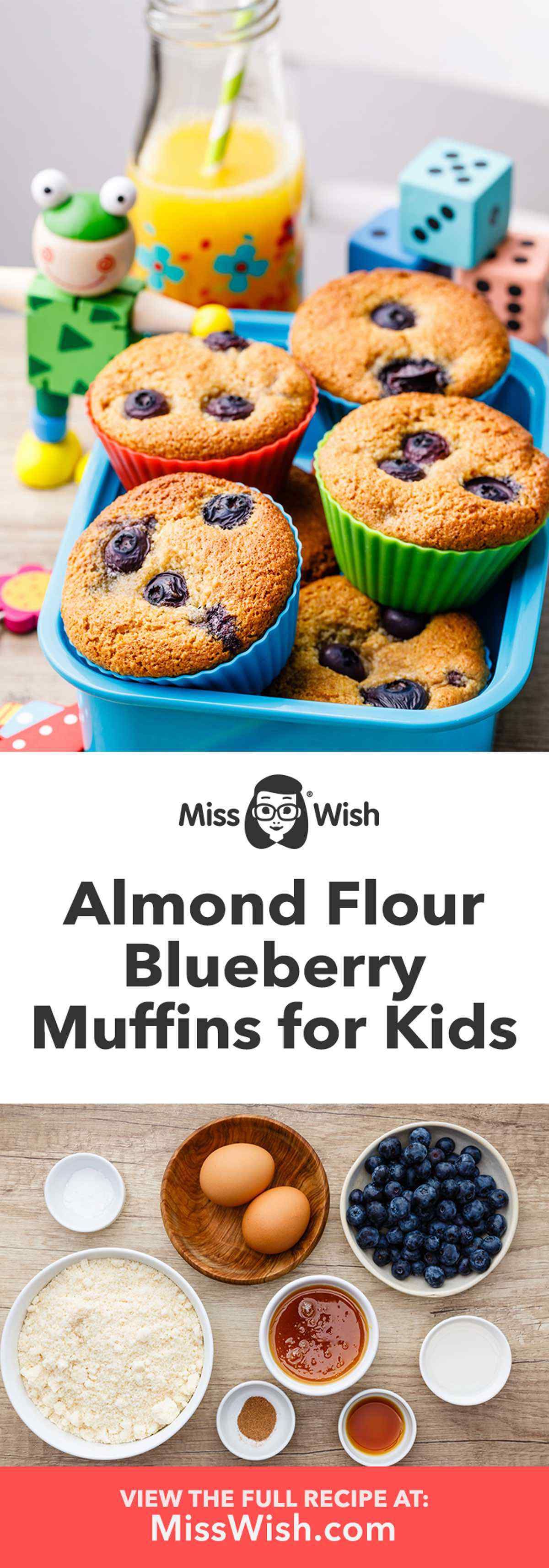 Almond Flour Paleo Blueberry Muffins for Kids