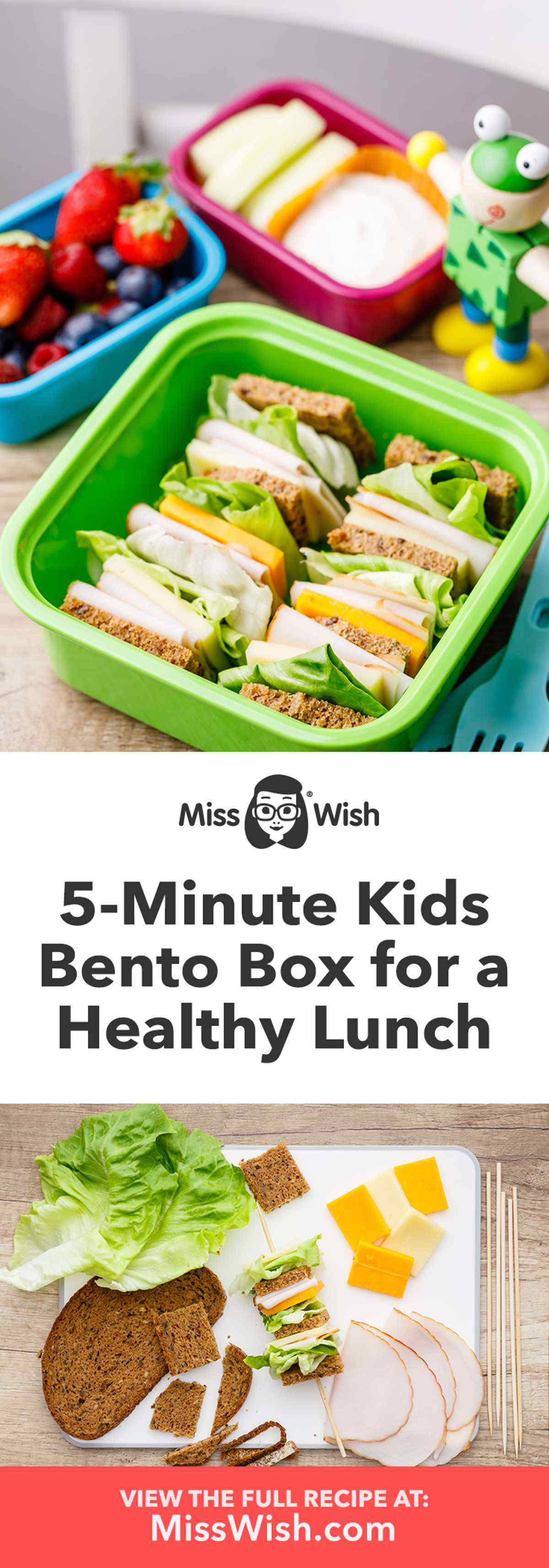 Looking for a quick and easy to prepare lunch for your kids? Try this idea for a 5-minute bento box that gives them all the tasty nutrition they need, without the hassle.