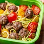 Paleo Meatballs Kids Lunch