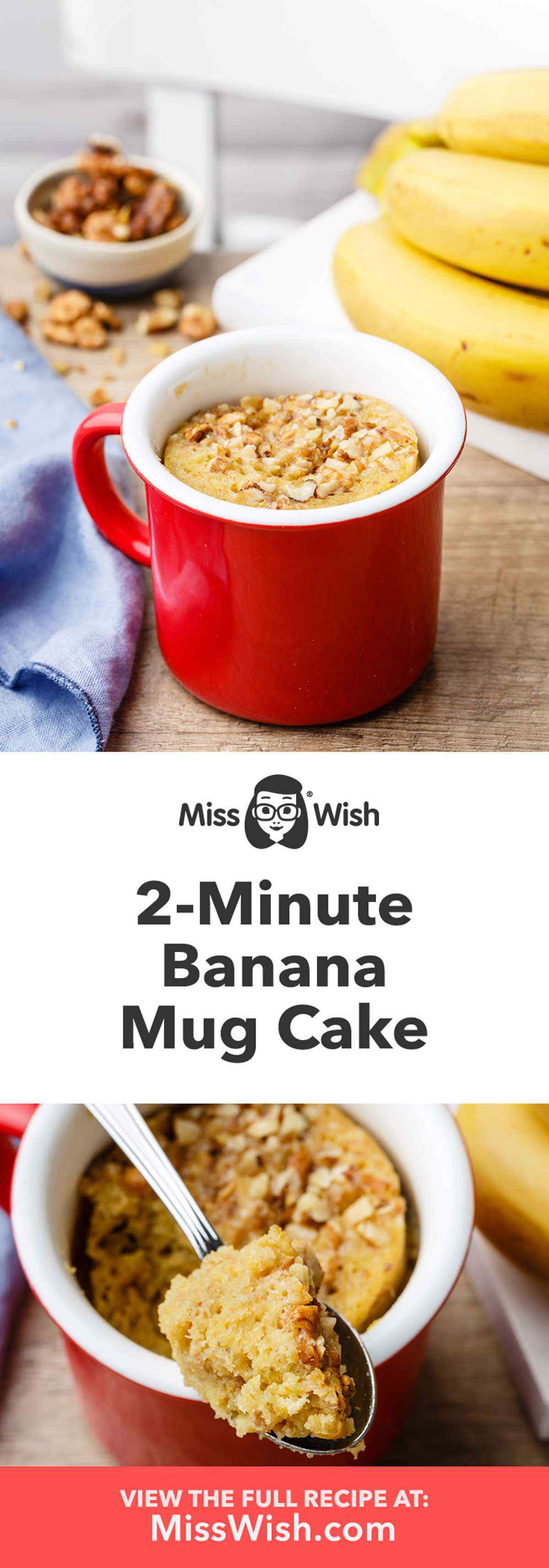 2-Minute Banana Mug Cake