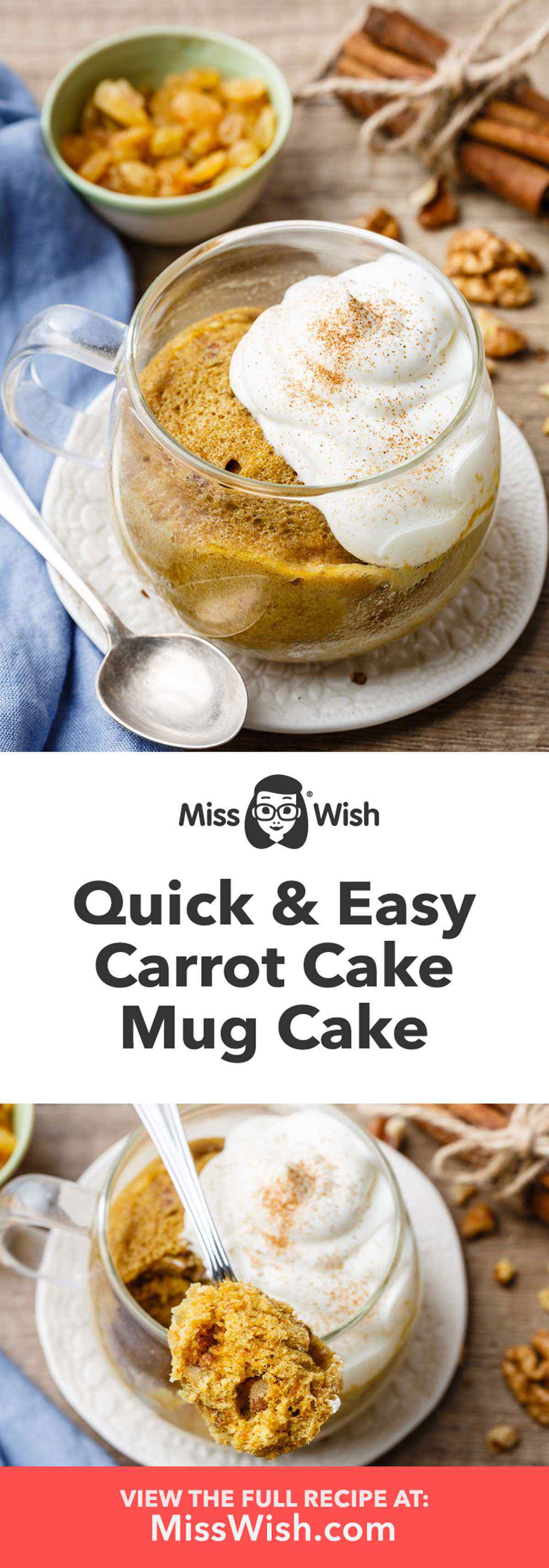Quick and Easy Carrot Cake Mug Cake
