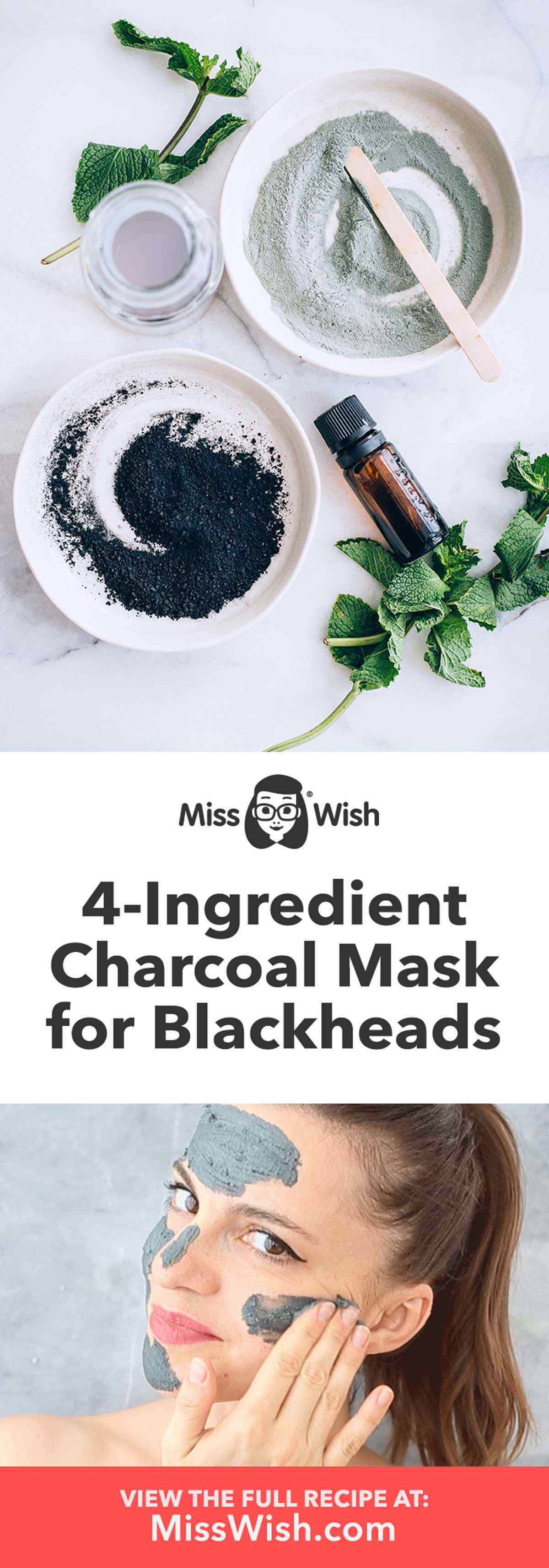 4-Ingredient Charcoal Mask for Blackheads