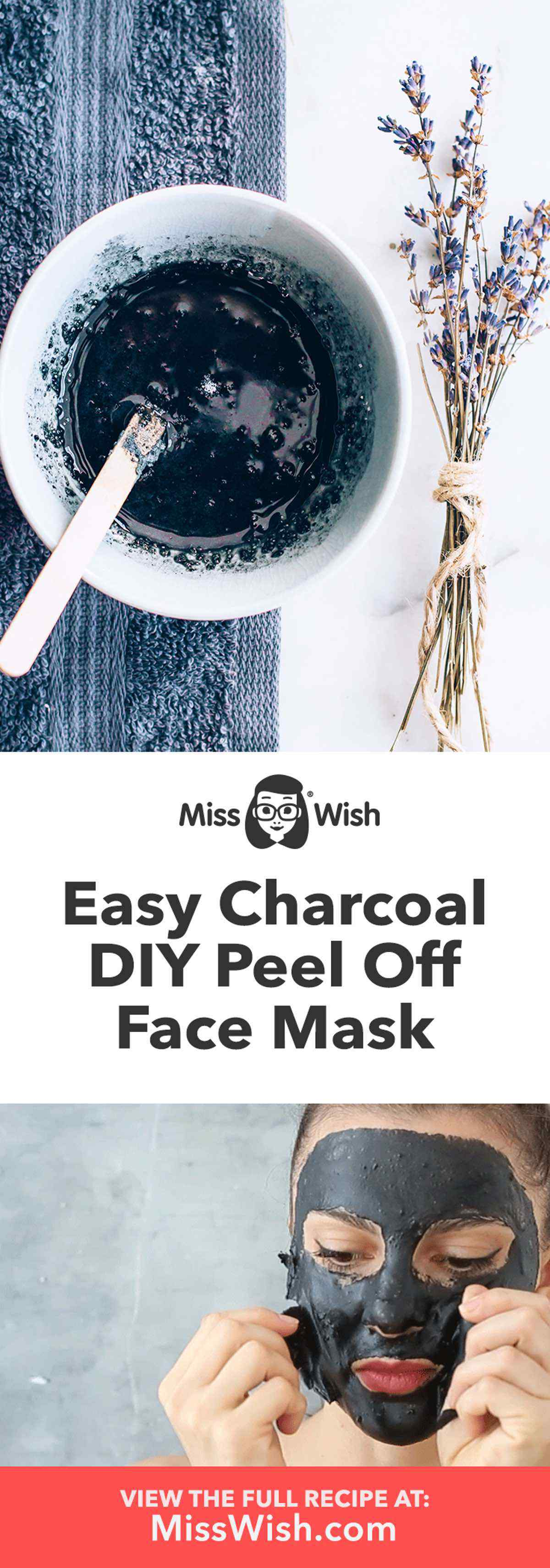 Easy DIY Charcoal Peel Off Face Mask