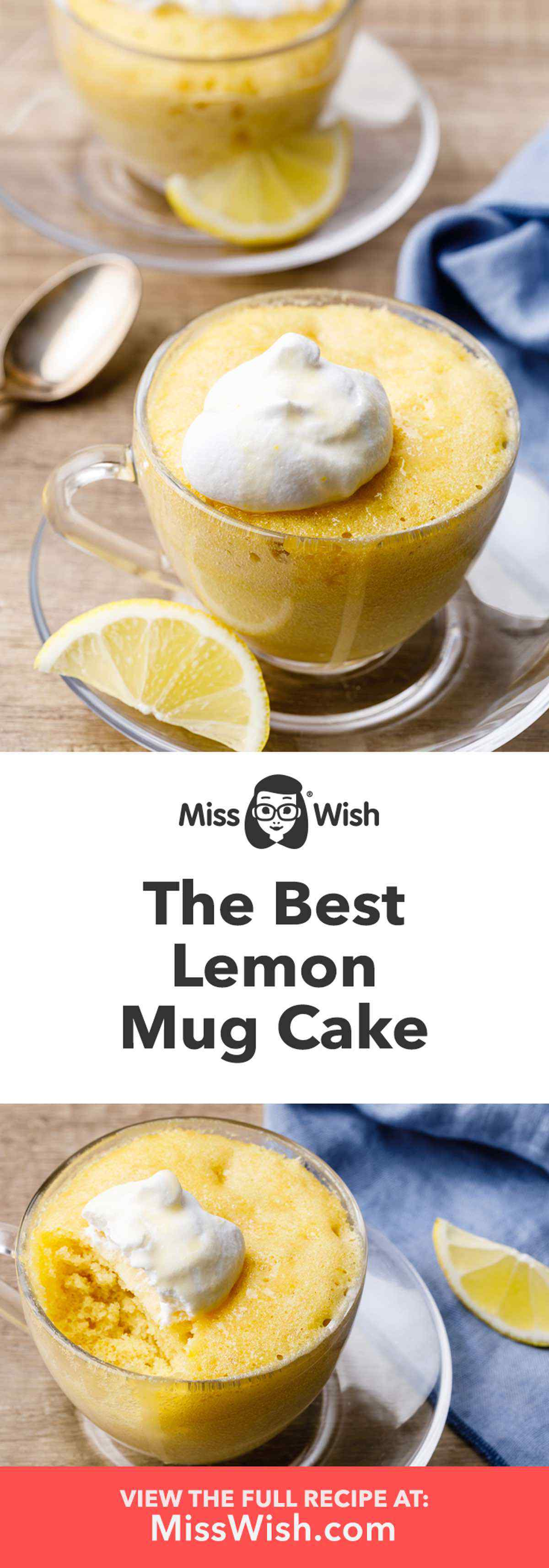 Homemade Lemon Mug Cake