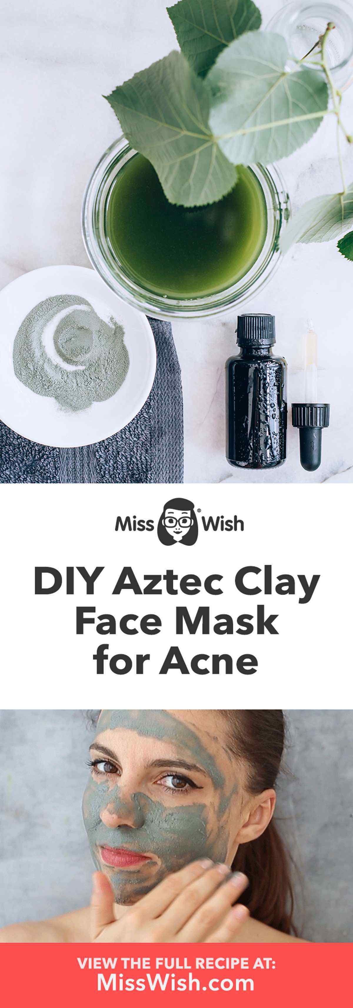 Homemade Aztec Clay Face Mask for Acne