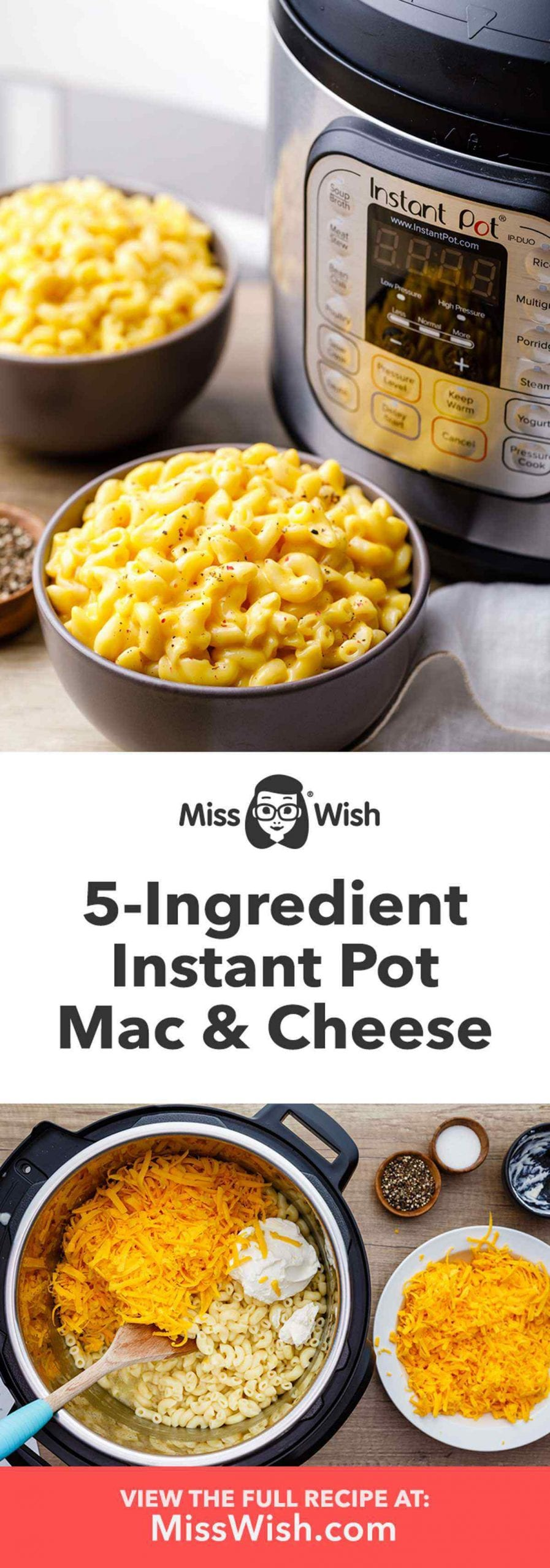 Easy 5-Ingredient Instant Pot Mac And Cheese