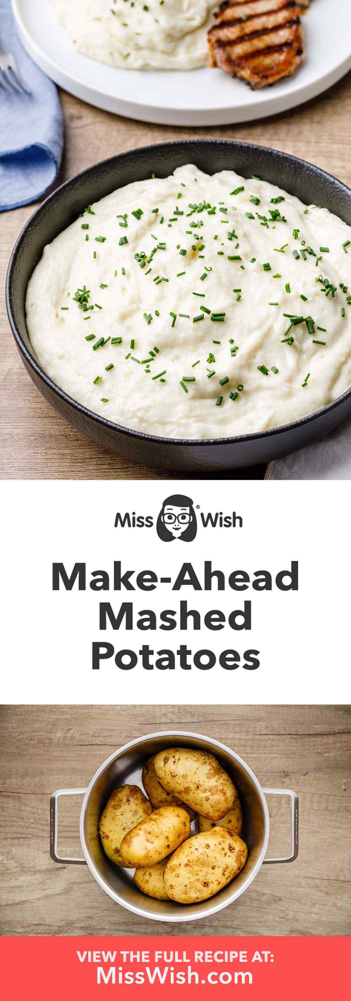 Easy 5-Ingredient Make Ahead Mashed Potatoes