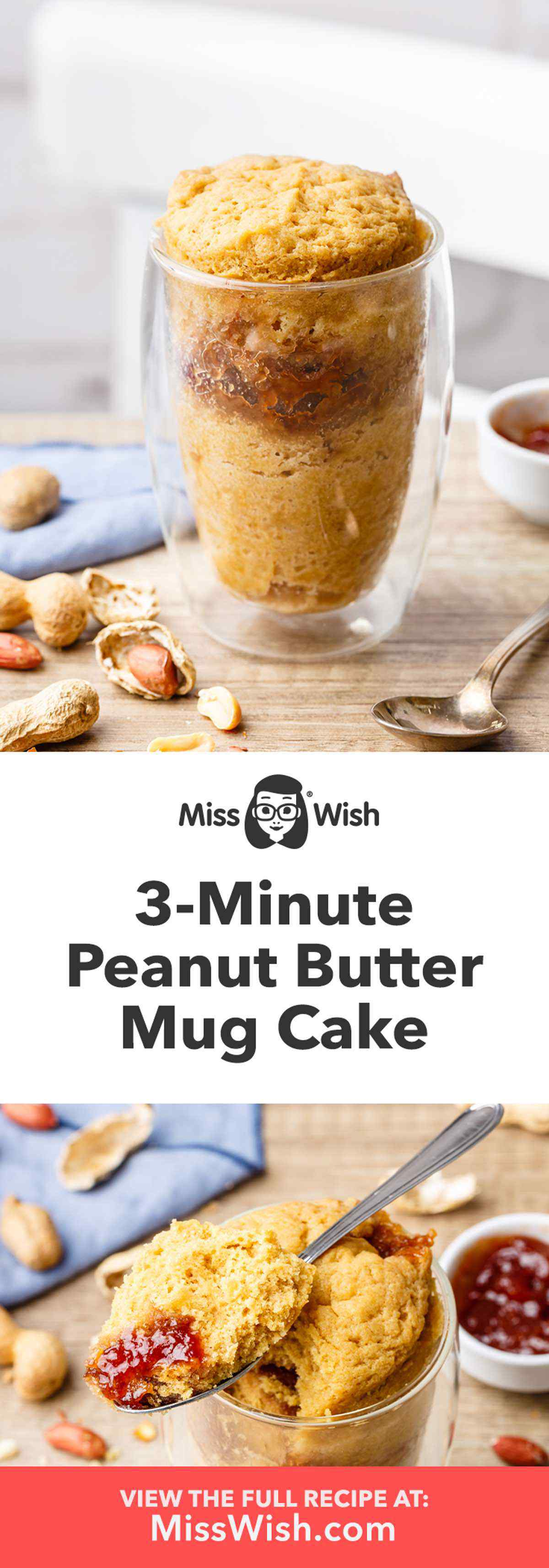 3-Minute Peanut Butter Mug Cake