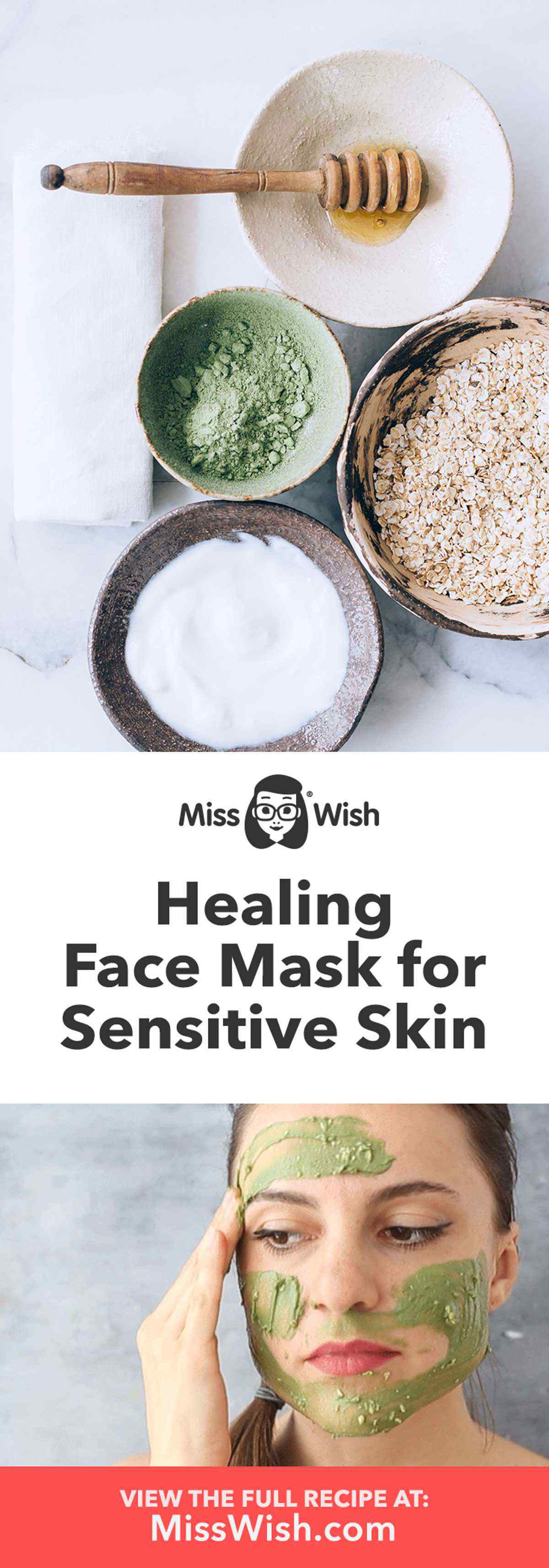 Healing DIY Face Mask for People with Sensitive Skin
