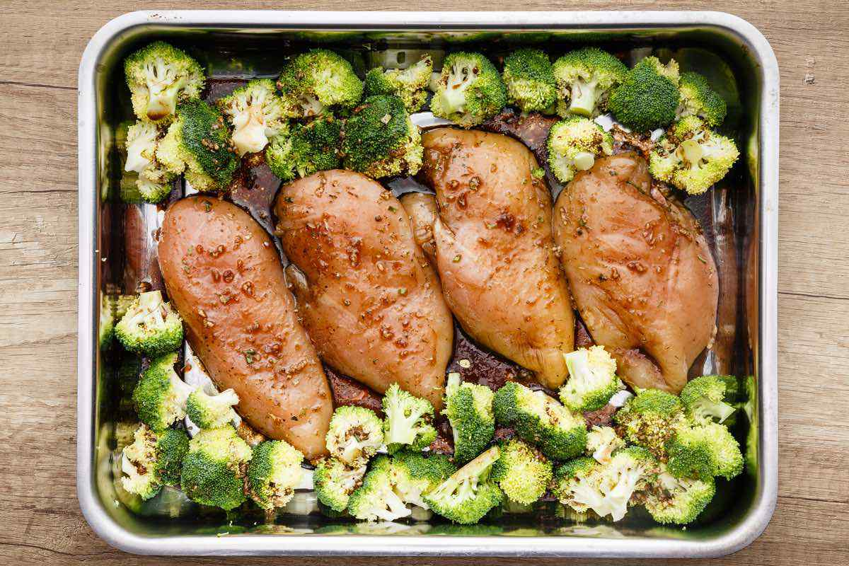 Sheet Pan Honey Balsamic Chicken