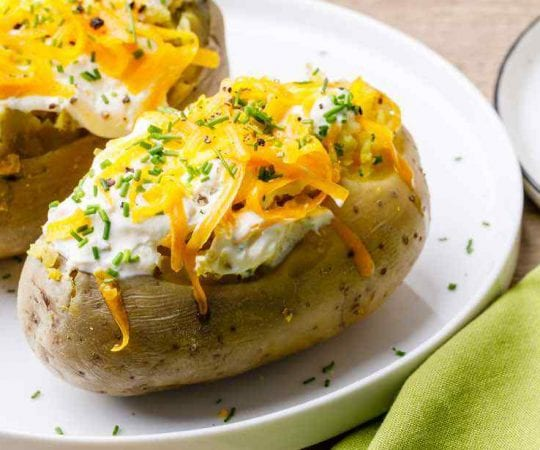 Fluffy Instant Pot Baked Potatoes