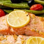 Garlic Sheet Pan Salmon