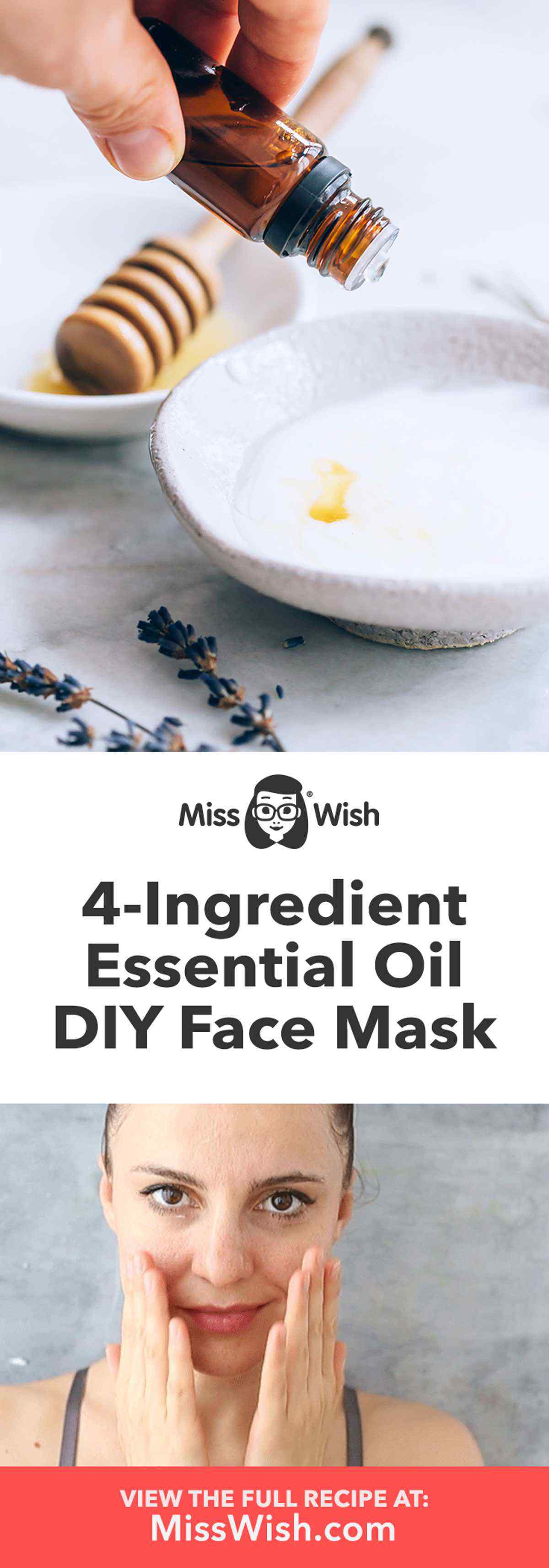 4-Ingredient Essential Oil Infused Face Mask Recipe