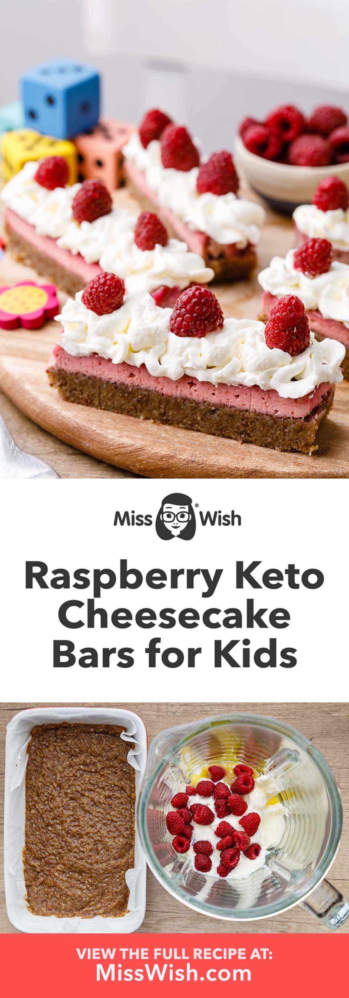 Raspberry Keto Cheesecake Bars