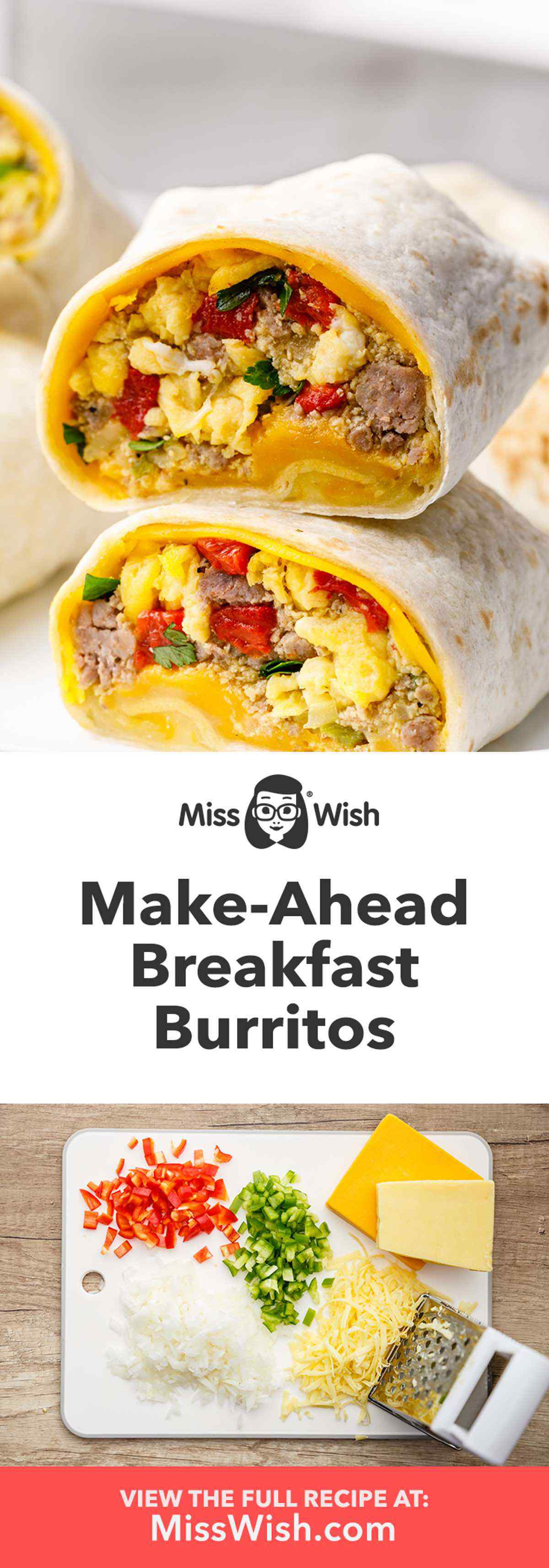 Quick and Easy Make-Ahead Breakfast Burritos