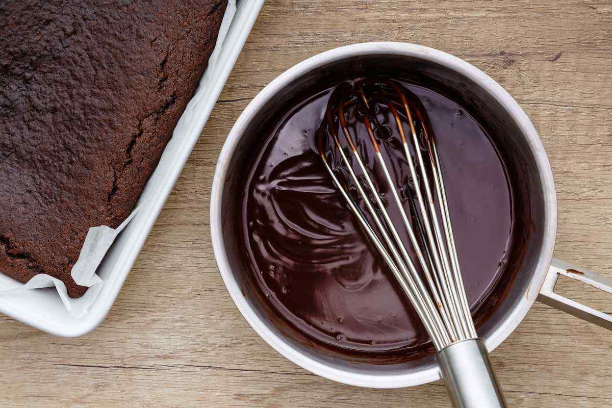 Double Chocolate Almond Flour Sheet Birthday Cake