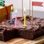 Double Chocolate Almond Flour Sheet Birthday Cake