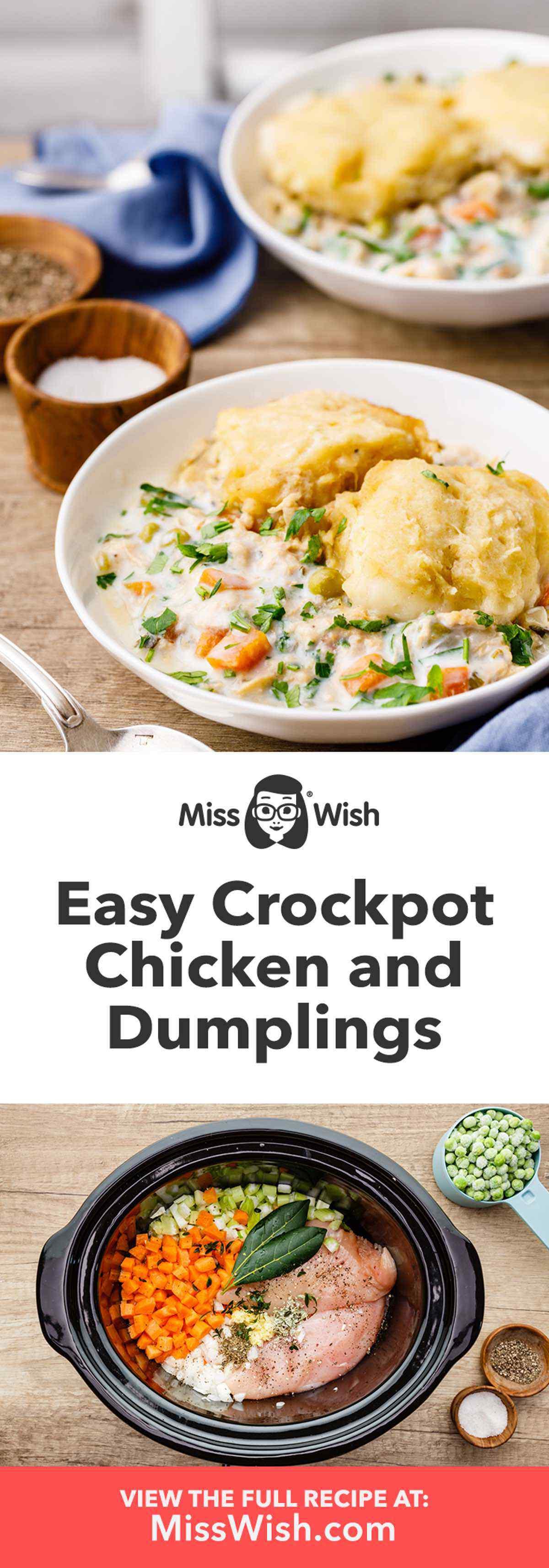 Homemade Crockpot Chicken and Dumplings