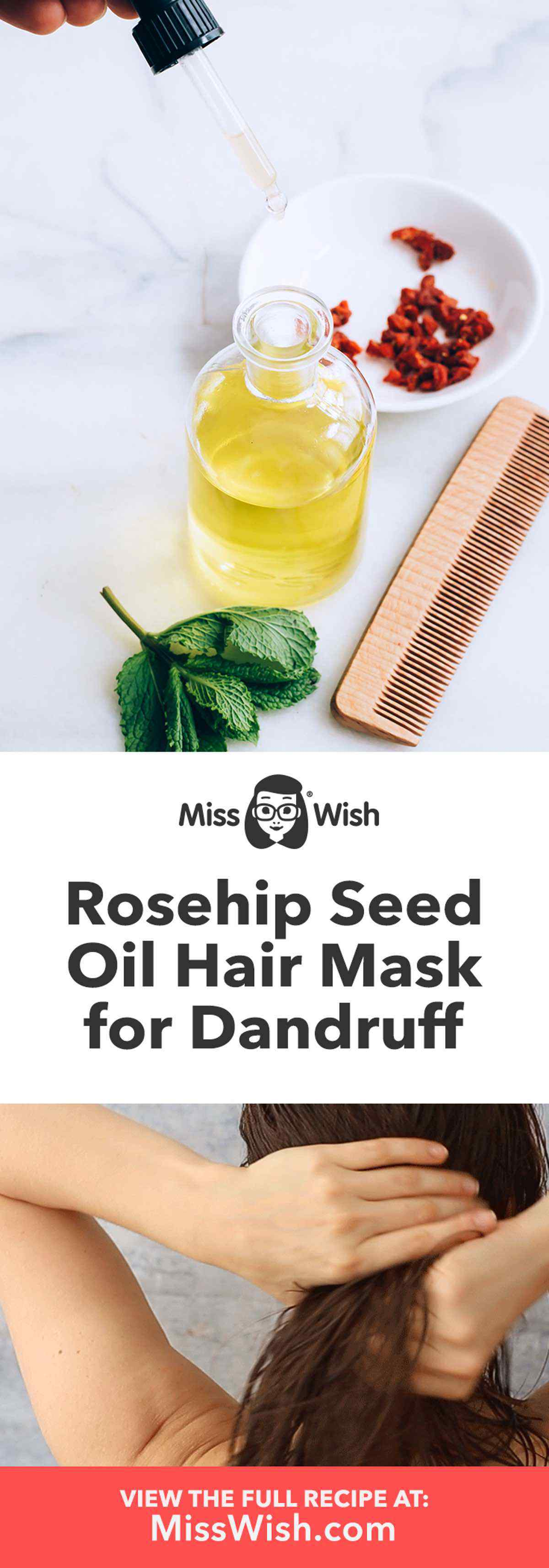DIY Rosehip Seed Oil Hair Mask to Get Rid of Dandruff