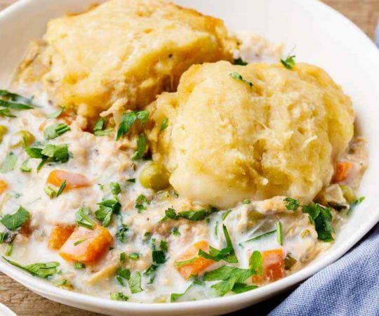 Homemade Crockpot Chicken and Dumplings