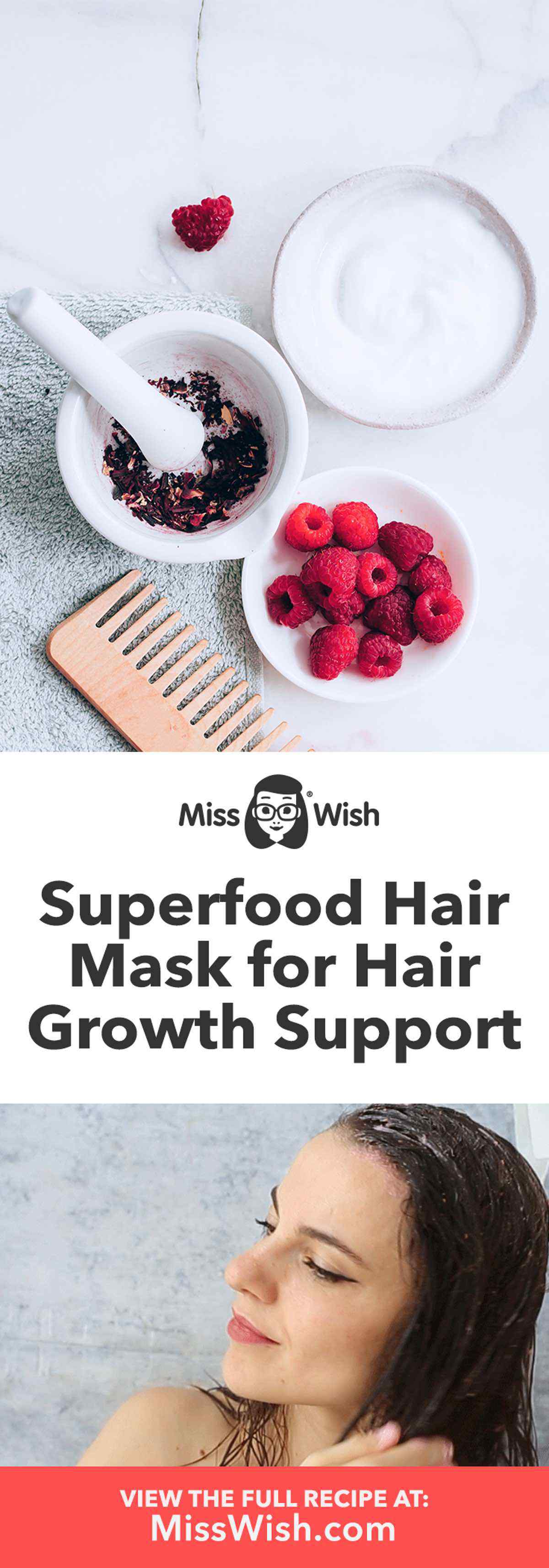 DIY Superfood Hair Mask for Hair Growth Support