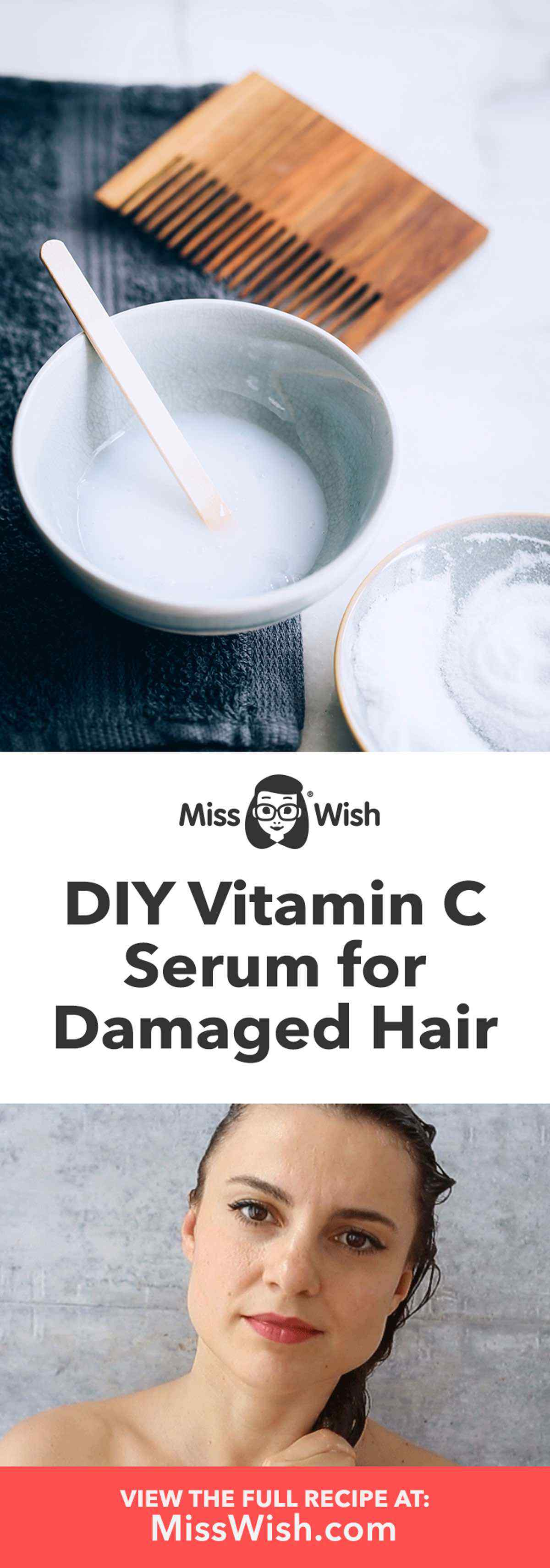 Vitamin C Serum Hair Mask for Damaged Hair