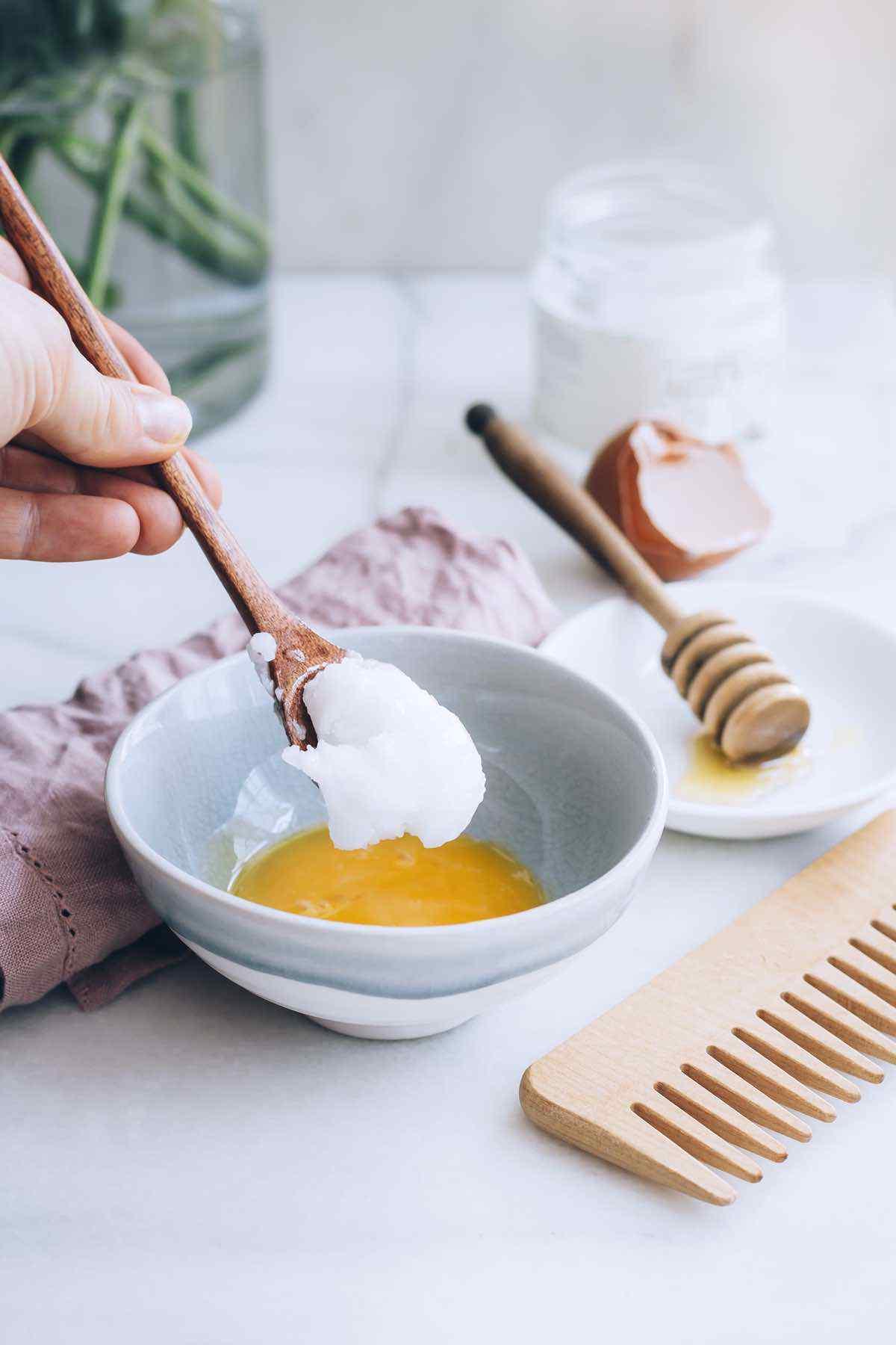 DIY Coconut Oil Hair Mask for the Softest Hair Ever
