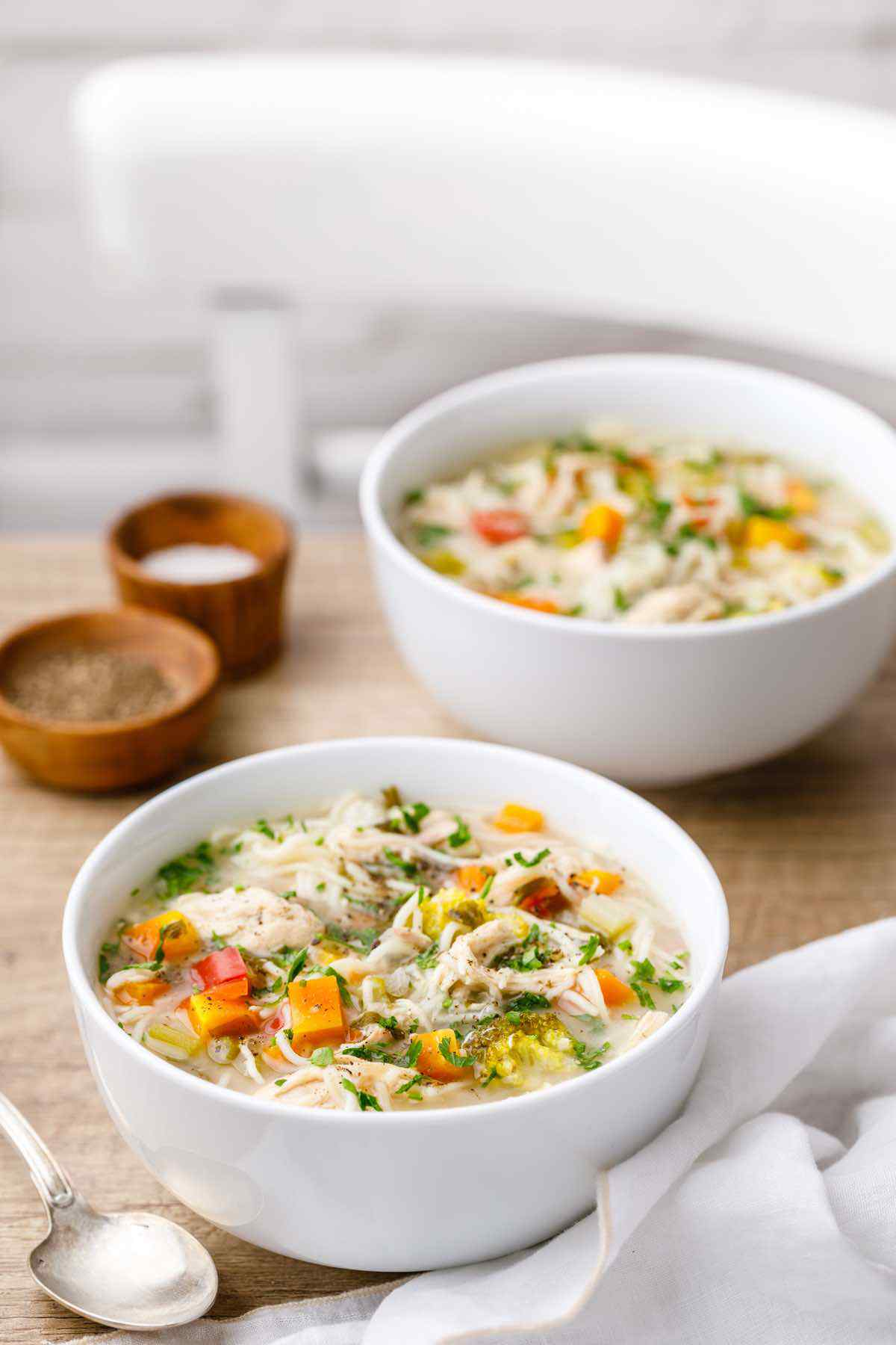 the best crockpot chicken noodle soup ever my favorite