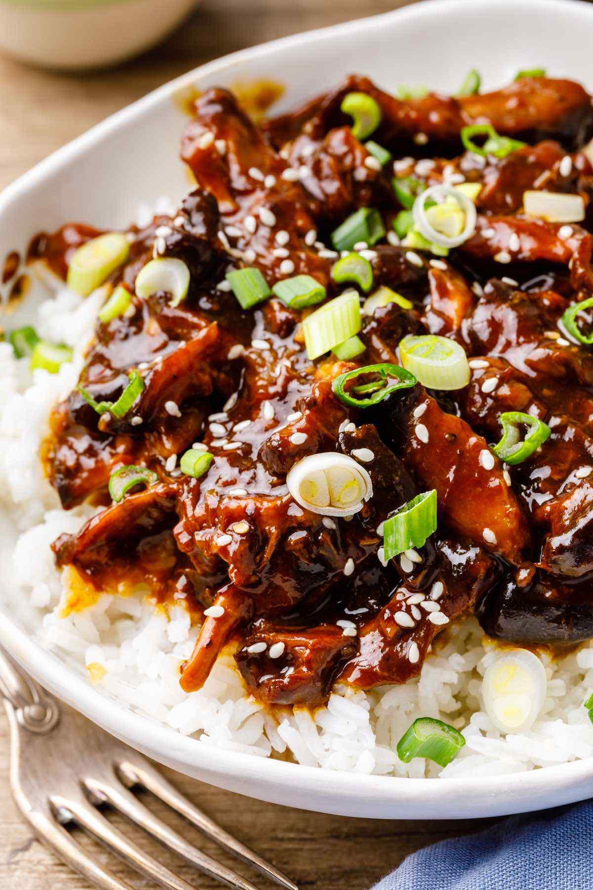 Easy Crockpot Teriyaki Chicken Thigh Recipe