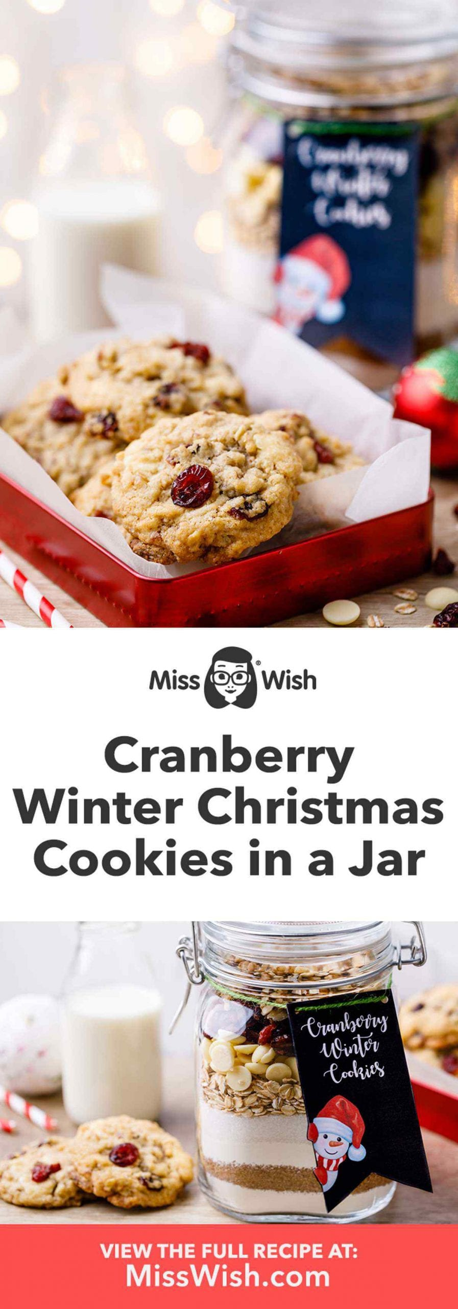 Cranberry Christmas Cookies