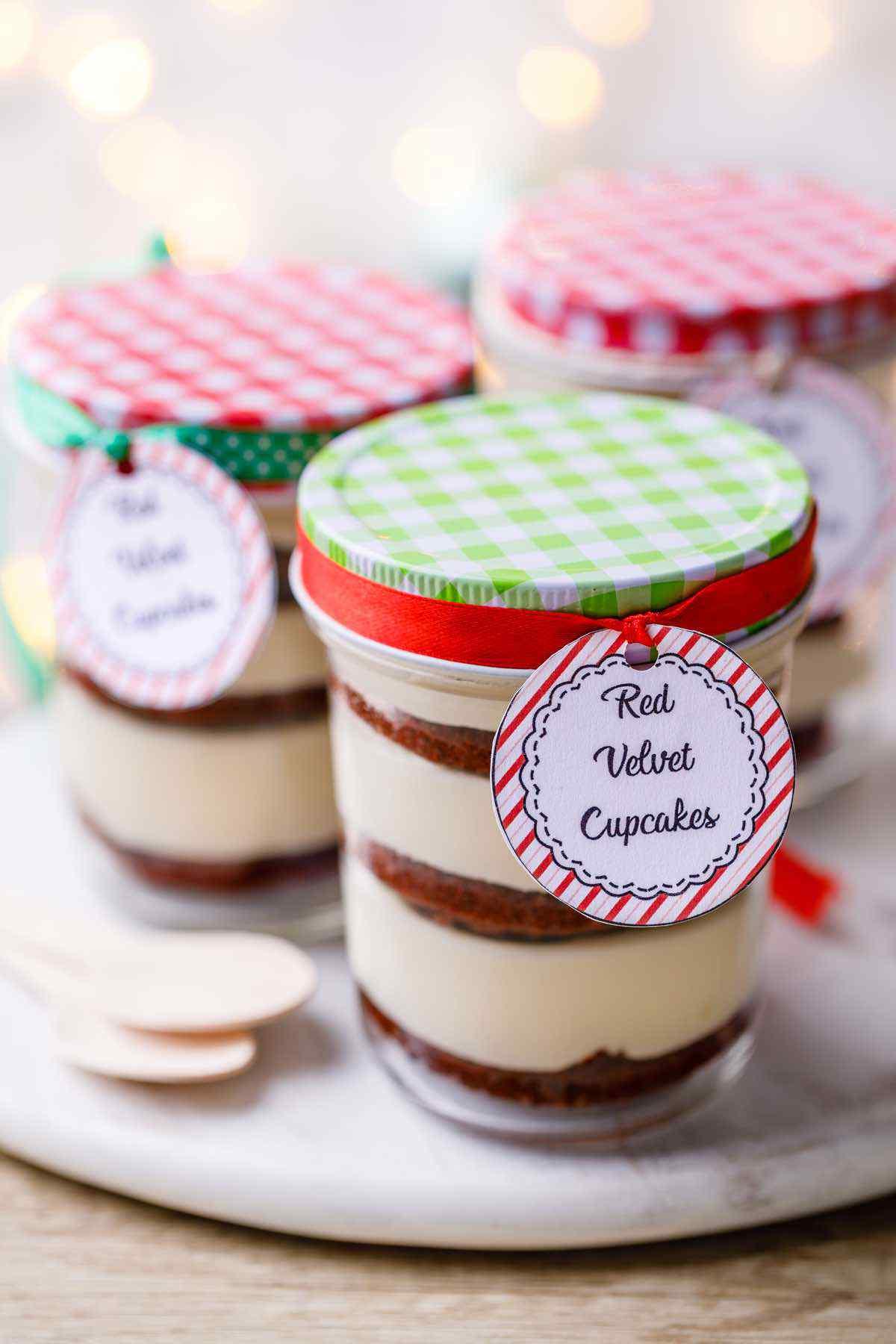 Red Velvet Cupcakes in a Jar