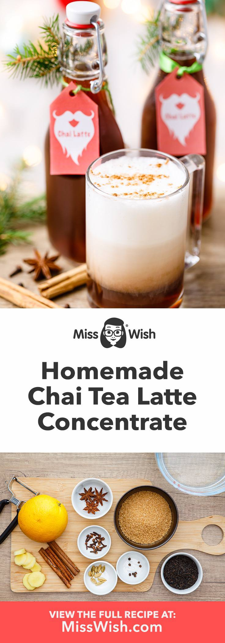 Hosw to make chai tea concentrate for quick and easy chai tea lattes.