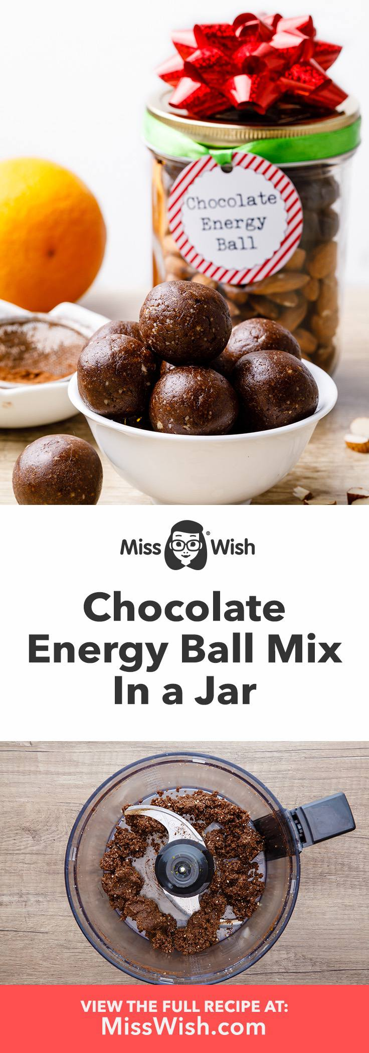 Make-ahead mix for the best chocolate energy balls.