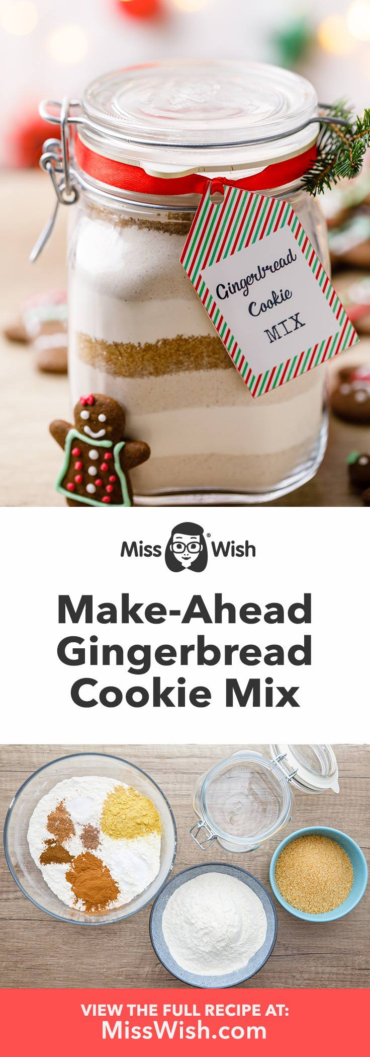 How to make the best gingerbread cookie mix.