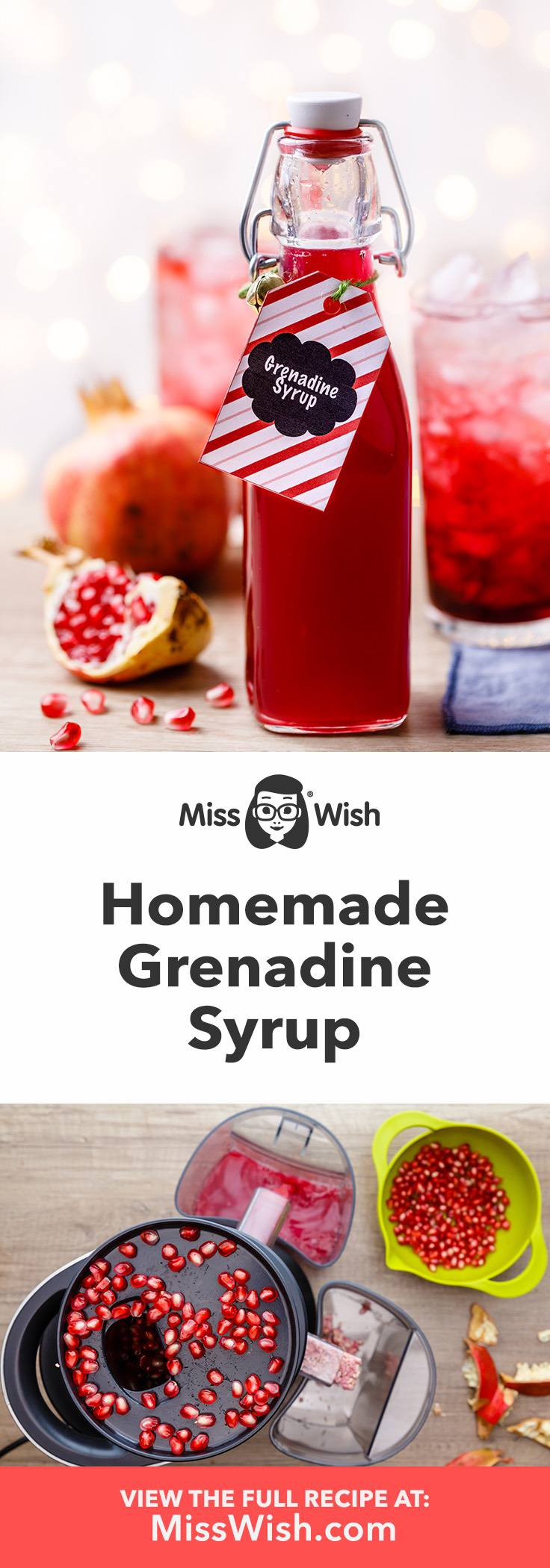 How to make the best homemade grenadine syrup for incredible grenadine drinks.