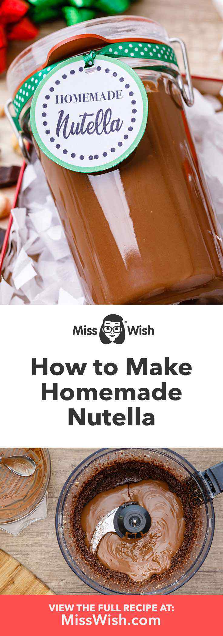 Rich and creamy homemade nutella.