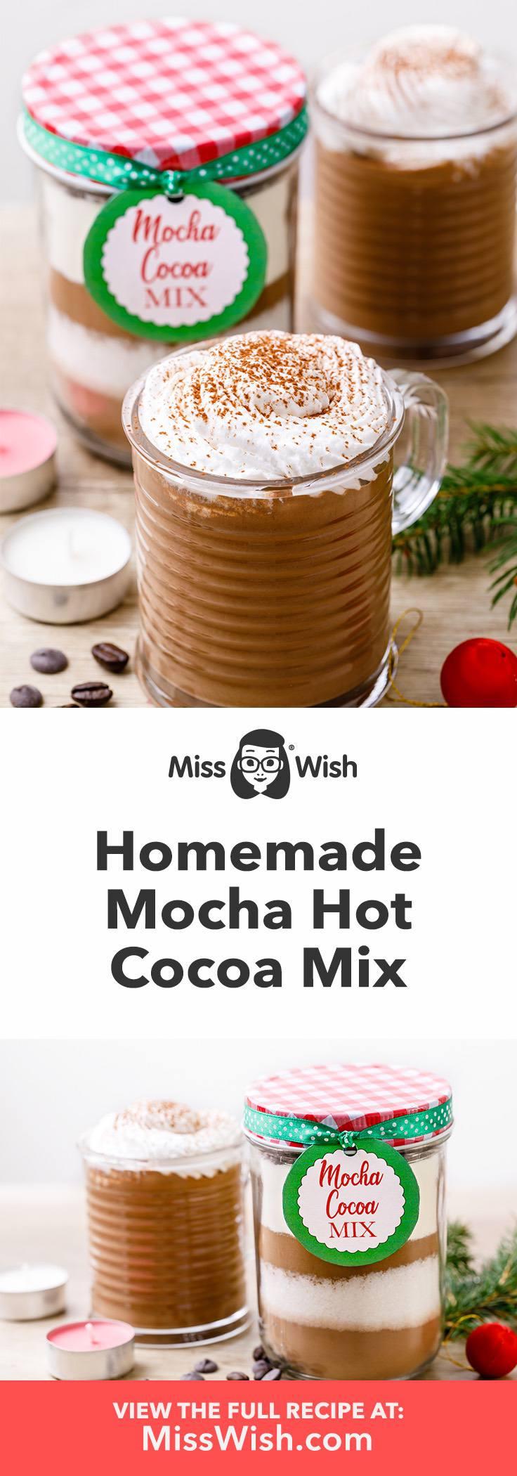 How to make homemade mocha hot cocoa mix.
