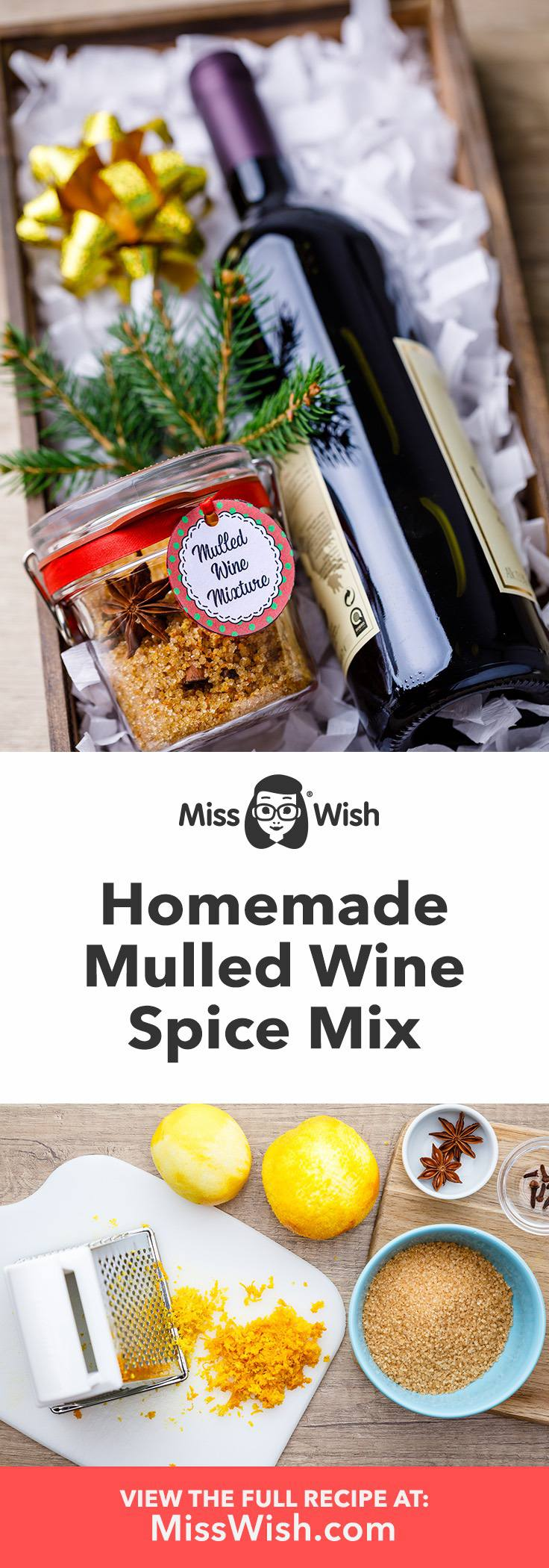 Easy homemade mulled wine spice for a thoughtful diy gift for wine lovers.