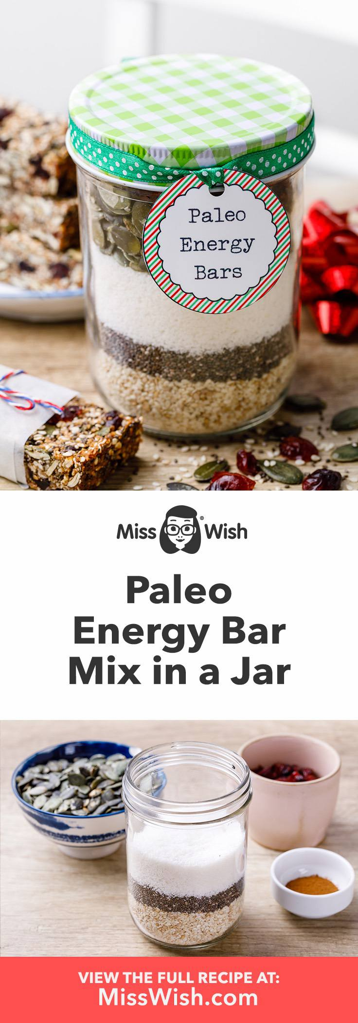 Easy make-ahead paleo energy bar mix.