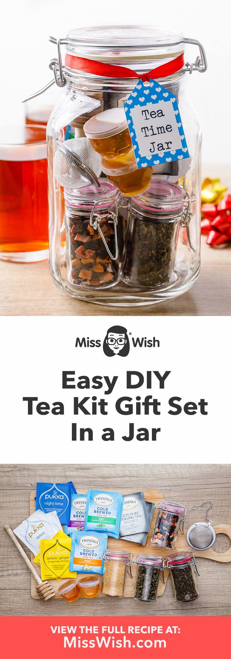 Easy diy tea kit gift for tea lovers.