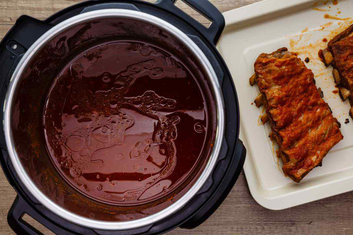 Instant Pot Baby Back Ribs with Homemade BBQ Sauce