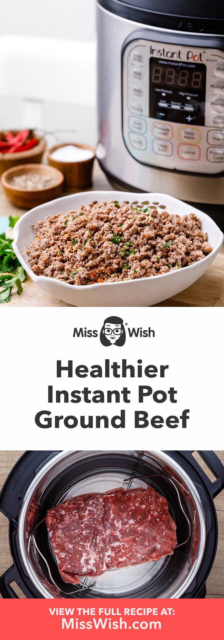 How to Cook Healthier Ground Beef in an Instant Pot