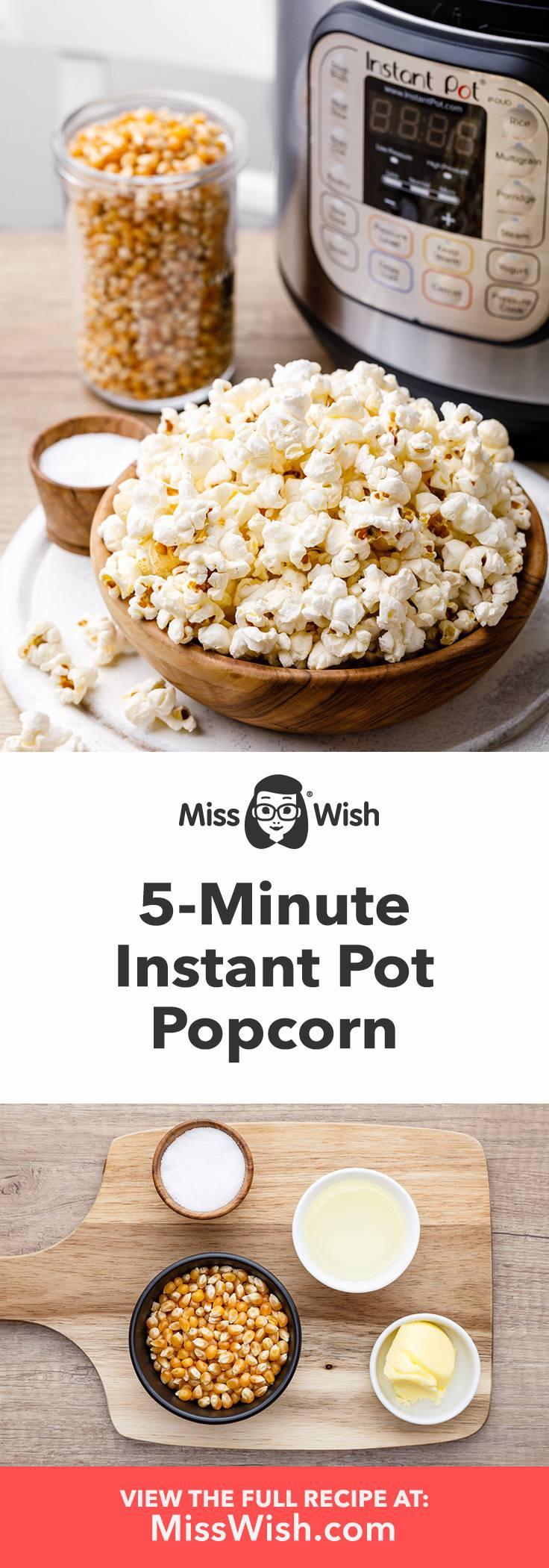 5-Minute Instant Pot Popcorn