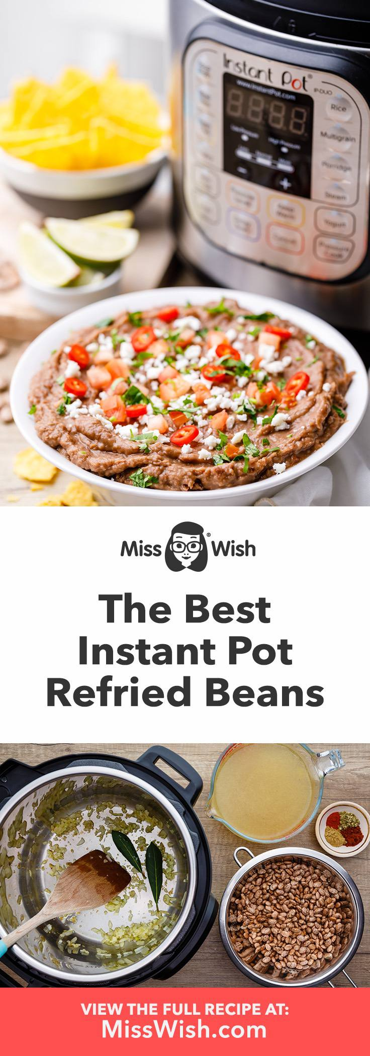 How to Make The Best No Soak Instant Pot Refried Beans