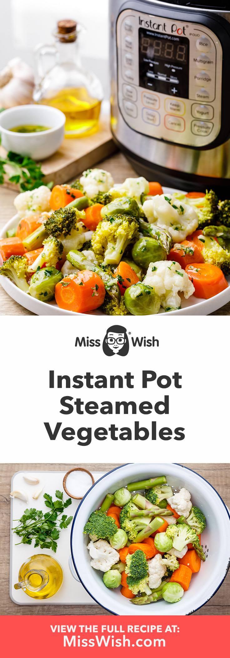 Easy Instant Pot Steamed Vegetables